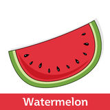 Cartoon Fruit - Sweet Watermelon Slice Stock Photos