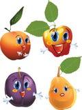 Cartoon fruits vector illustration
