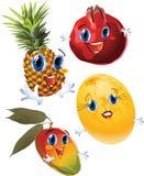 Cartoon fruits royalty free stock photo