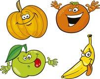 Cartoon fruits Stock Image