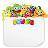 Cartoon Fruits Royalty Free Stock Images