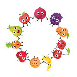 Cartoon fruits characters Royalty Free Stock Image