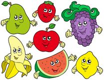 Cartoon fruits collection 2 Stock Photo