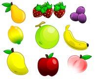 Cartoon fruits Stock Photo
