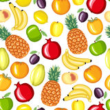Cartoon fruits pattern seamless Royalty Free Stock Photos