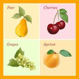 Cartoon fruits Royalty Free Stock Photo