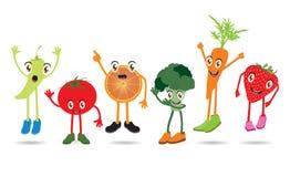 Cartoon Fruits: A set of funny cartoon fruits Royalty Free Stock Images