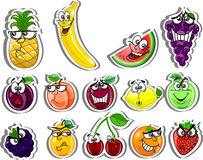 Cartoon fruits,vector Royalty Free Stock Photos