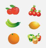 Cartoon fruits vector Stock Photos