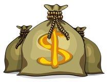 Cartoon full sacks with money Stock Photo