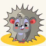 Cartoon. Fun animal. Cartoon vector Illustration of cute funny hedgehog Stock Photo