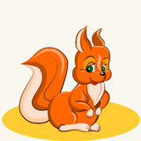 1115_28 cartoon. Fun animal. Cartoon vector Illustration of cute funny squirrel Royalty Free Stock Photos