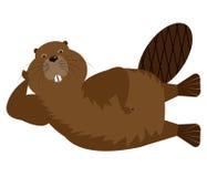 Cartoon Fun Character Beaver Isolated. Cartoon Fun Brown Character Beaver Isolated Royalty Free Stock Image