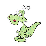 Cartoon  fun crocodile Stock Photo