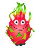 Cartoon fun dragon fruit character. Pitaya. Vector illustration, clip-art, isolated on white background. Cartoon fun dragon fruit character. Pitaya. Vector Stock Photos