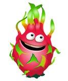 Cartoon fun dragon fruit character. Pitaya. Vector illustration, clip-art, isolated on white background. Cartoon fun dragon fruit character. Pitaya. Vector Stock Image