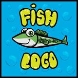 Cartoon fun fish logo. An illustration of a cartoon fish character Stock Image