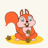 Cartoon. Fun zoo. Cartoon vector Illustration of cute funny squirrel Stock Images
