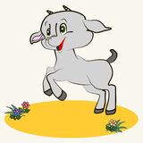 cartoon. Fun zoo. Cartoon vector Illustration of cute goat Stock Photos
