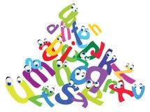 Cartoon funny alphabet Stock Image
