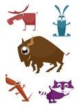 Cartoon funny animals Stock Photo