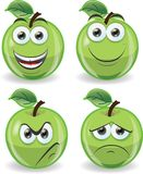 Cartoon funny apples,vector Stock Photos