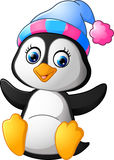 Cartoon funny baby penguin Stock Images