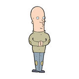Cartoon funny bald man Stock Photography