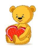 Cartoon funny bear. Stock Photos
