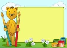 Cartoon funny bear. Royalty Free Stock Image