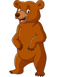Cartoon funny bear standing Royalty Free Stock Photo