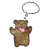 cartoon funny bear wtih thought bubble Stock Photos