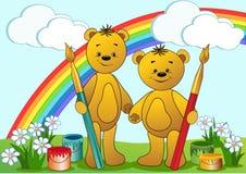 Cartoon funny bears. Stock Photo