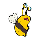 Cartoon funny bee Royalty Free Stock Image