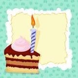 Cartoon funny  Birthday cake card. Vector illustration Royalty Free Stock Photo