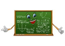 Cartoon funny board with mathematics Royalty Free Stock Image