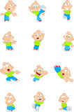 Cartoon funny boy Stock Photos