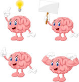 Cartoon funny brain collection set Royalty Free Stock Images