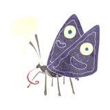 Cartoon funny butterfly with speech bubble Stock Photos