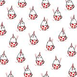 Cartoon funny cat, pattern, ornament. Vector flat illustration. The character is isolated on a white background. Ornament, stock illustration