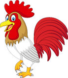 Cartoon funny chicken rooster isolated on white background Royalty Free Stock Photography