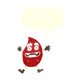 Cartoon funny christmas creature with speech bubble Royalty Free Stock Photography