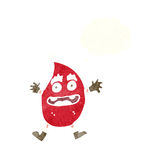 Cartoon funny christmas creature with thought bubble Stock Photography