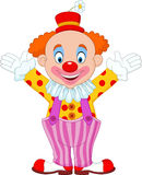 Cartoon funny clown. Illustration of Cartoon funny clown Royalty Free Stock Images