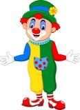 Cartoon funny clown posing Stock Image