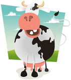 Cartoon Funny Cow Royalty Free Stock Photo