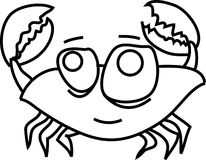 Cartoon funny crab Royalty Free Stock Photography