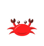 Cartoon funny crab isolated on white background Stock Images