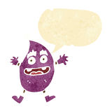 cartoon funny creature with speech bubble Stock Images