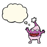 Cartoon funny creature with thought bubble Stock Photo